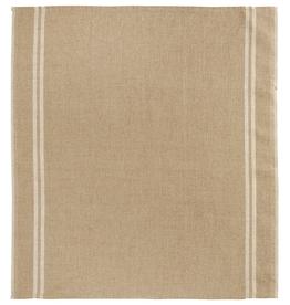 Everyday Natural Two-Stripe White Tea Towel