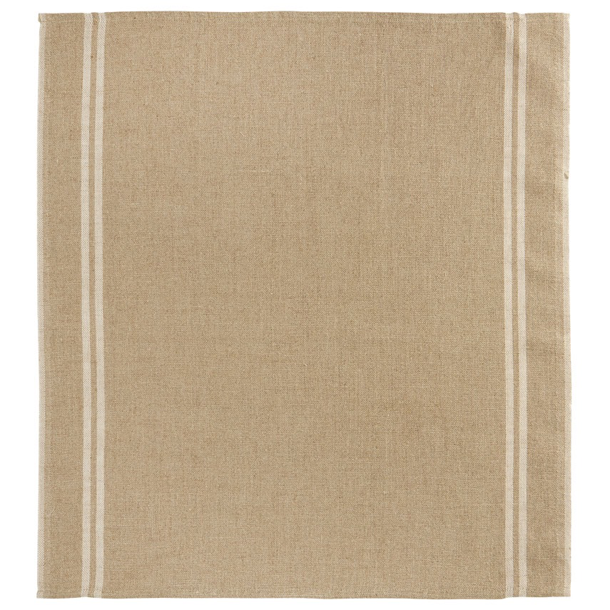 Everyday Natural Two-Stripe White Tea Towel