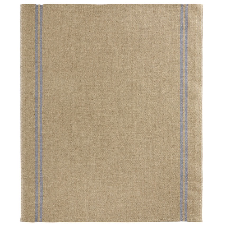 Everyday Natural Two-Stripe Blue Tea Towel