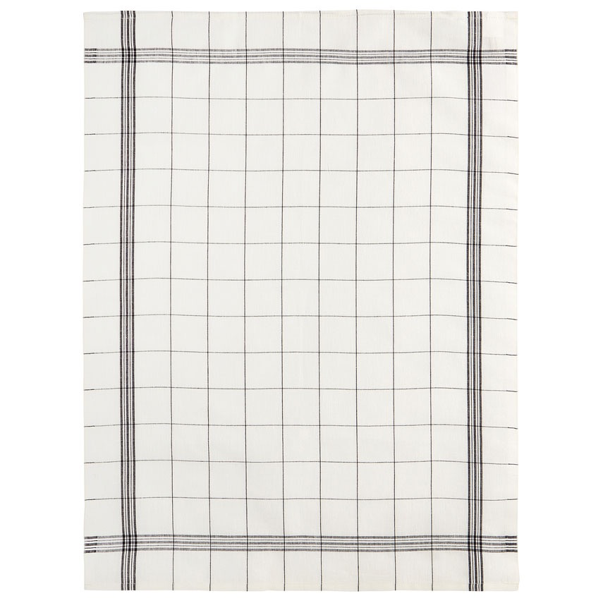 Everyday Black Plaid Tea Towel