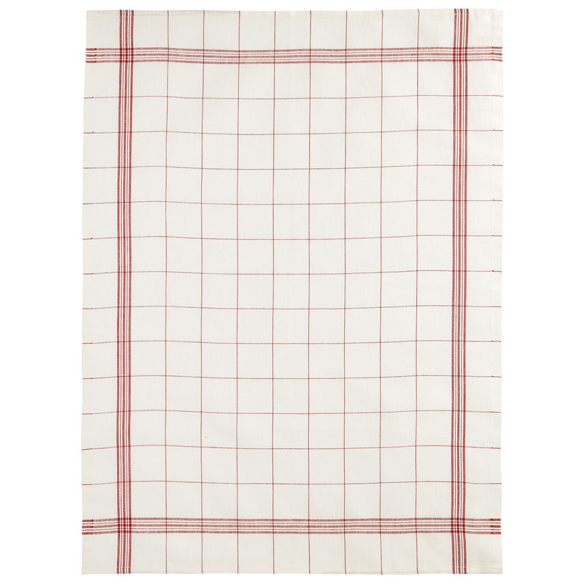 Everyday Red Plaid Tea Towel