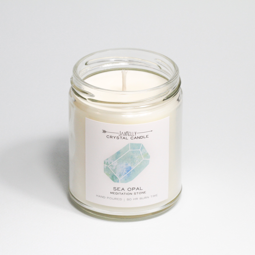 Everyday Sea Opal Crystal Candle