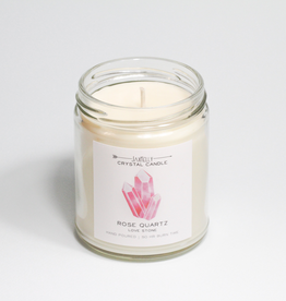 Everyday Rose Quartz Crystal Candle