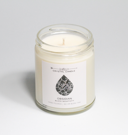 Everyday Obsidian Crystal Candle