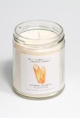 Everyday Citrine Quartz Crystal Candle