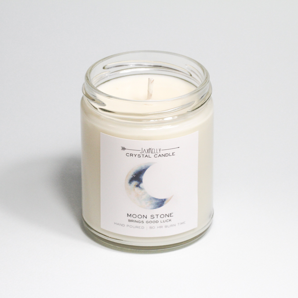 Everyday Moonstone Crystal Candle