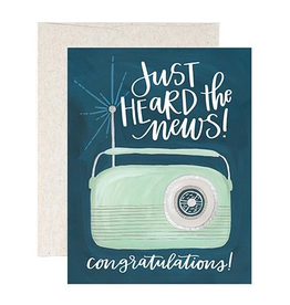 Everyday Just Heard the News, Congratulations! Card