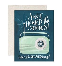 Everyday Just Heard the News, Congratulations! Card