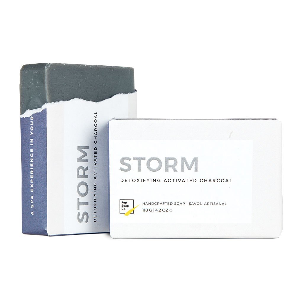 Everyday 'Storm' Soap - Detoxifying Activated Charcoal