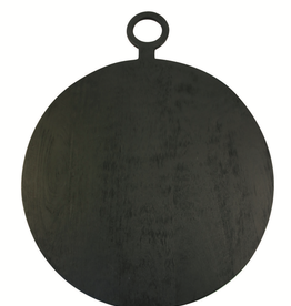 Everyday Brushed Black Wood Round Cheese Board