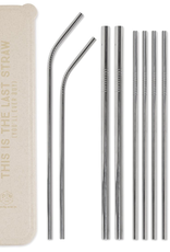 Everyday Stainless Steel Straw Kit - 'This Is The Last Straw'