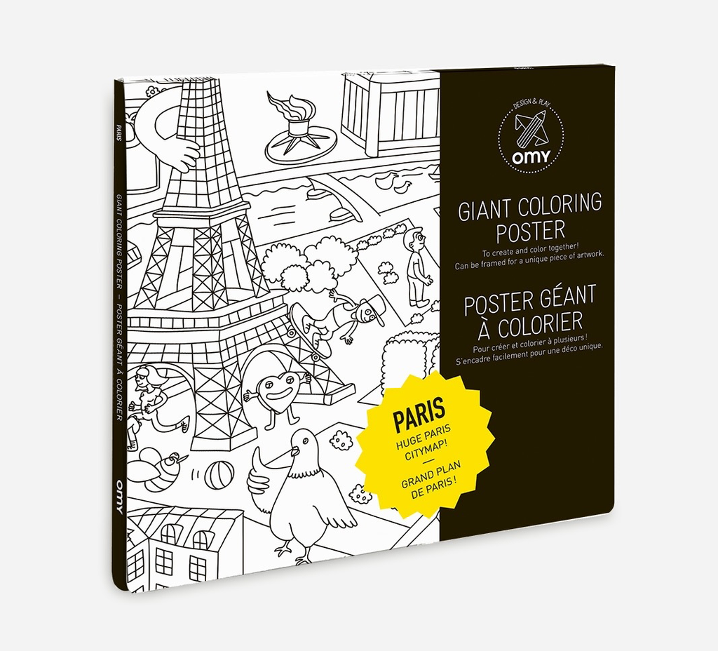 Everyday Poster Colouring: Paris