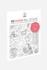 Everyday 100 Wall Stickers: Colouring