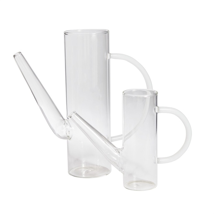 Everyday Medium Clear Glass Watering Can