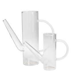 Everyday Large Clear Glass Watering Can