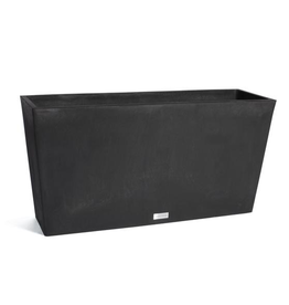Everyday Midori Long Black Trough Planter