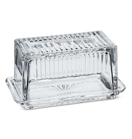 Everyday Large Rectangular Glass Butter Dish