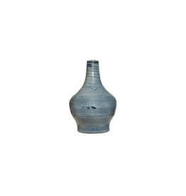 "Everyday 5"" x 7.75"" Blue Terra Cotta Vase"