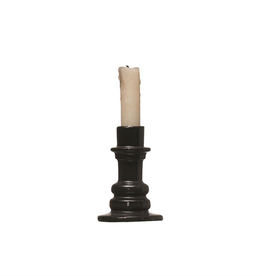 "Everyday 3""R x 4.25""H Black Stoneward Candle Holder"