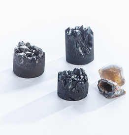 Everyday Frosted Black Titanium Crystal Cupcake