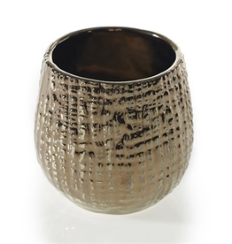 "Everyday 3"" x 3.5"" Bronze & Gold Pot"