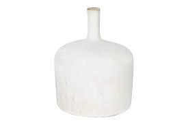 "Everyday 5"" x 6"" White Stoneware Vase with Reactive Glaze"