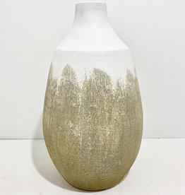 "Everyday 17"" Terracotta White & Beige Vase"