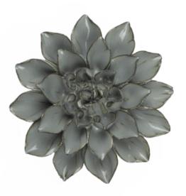 Everyday Medium Aqua Black Ceramic Flower