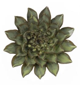 Everyday Medium Green Ceramic Flower