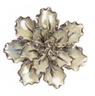 Everyday Medium Ecru Ceramic Flower