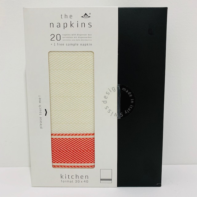 Everyday Rustic Red Boxed Napkins