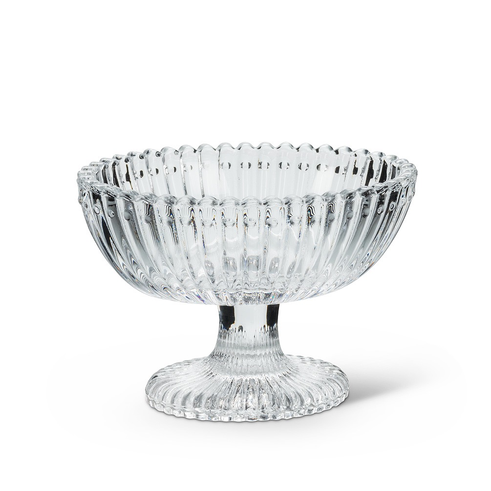 Everyday Oval Glass Pedestal Dish