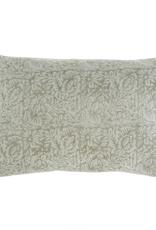 "Everyday 24"" x 16"" Mint Printed Velvet Pillow"