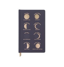 Everyday Charcoal Moon Phases Journal