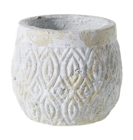 "Everyday 5.25"" x 6"" White Andaz Pot"
