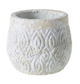 "Everyday 4"" x 4.5"" White Andaz Pot"
