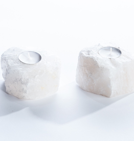 Everyday Quartz Crystal Candle Holder