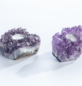 Everyday Amethyst Candle Holder