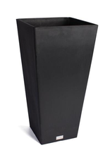 Everyday Black Midland Tapered Square Planter
