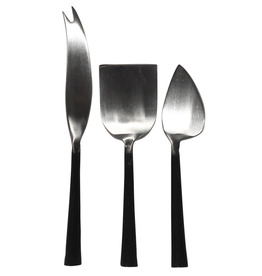 Everyday Aero Stainless Steel & Black Zinc Cheese Set