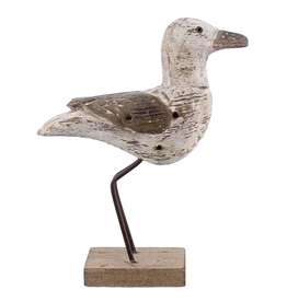 Everyday Large White & Natural Kelso Wood Seagull