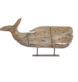 Everyday Kelso Wood Sperm Whale on Stand