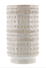 "Everyday 5.5"" x 10"" Patterned Ceramic Peru Vase"