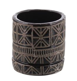 "Everyday 5"" x 5"" Black & Natural Cusco Ceramic Pot"