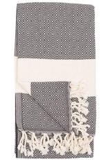 Everyday Towel, Turkish, Diamond Pattern, Carbon