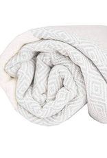 Everyday Towel, Turkish, Diamond Pattern, Mist