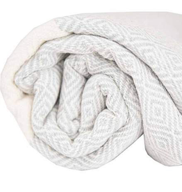 Everyday Towel, Turkish, Diamond Pattern, Mist