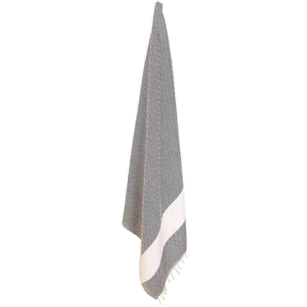 Everyday Towel, Turkish, Diamond Pattern, Slate