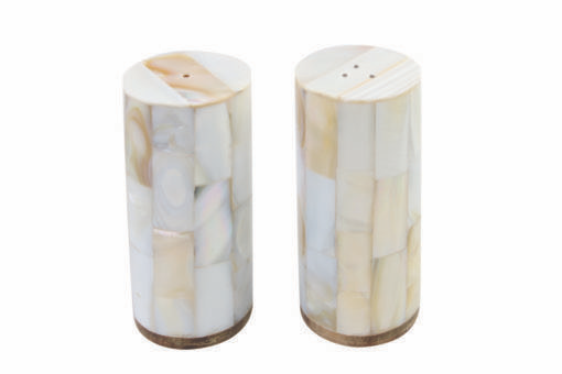 Everyday Shell Mosaic Salt and Pepper Shaker