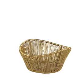 Everyday Small Gold Rhythm Wire Basket